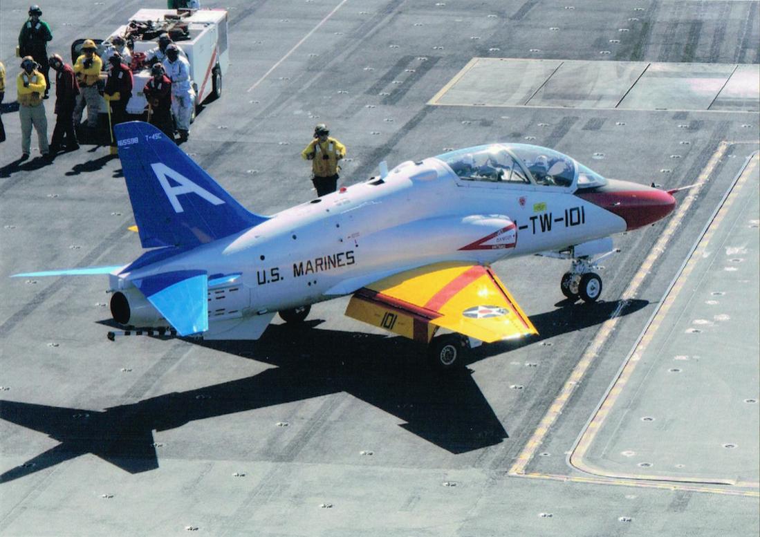 Naam: Foto 638. McDonnell Douglas (nu Boeing) T-45 Goshawk. Gemodificeerde versie van de BAE Hawk.jpg Bekeken: 191 Grootte: 120,2 KB