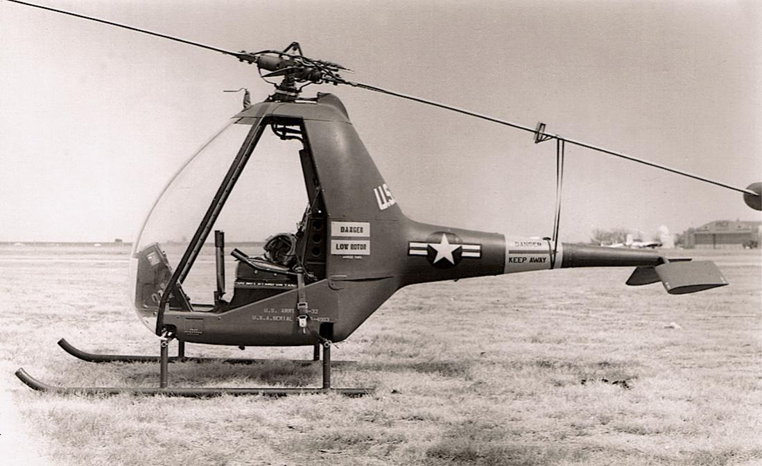 Naam: Foto 585. Hiller YH-32 Hornet (US Navy HOE-1). 55-4963 at Fort Meade. US Army (1957), kopie 1100.jpg Bekeken: 103 Grootte: 104,5 KB