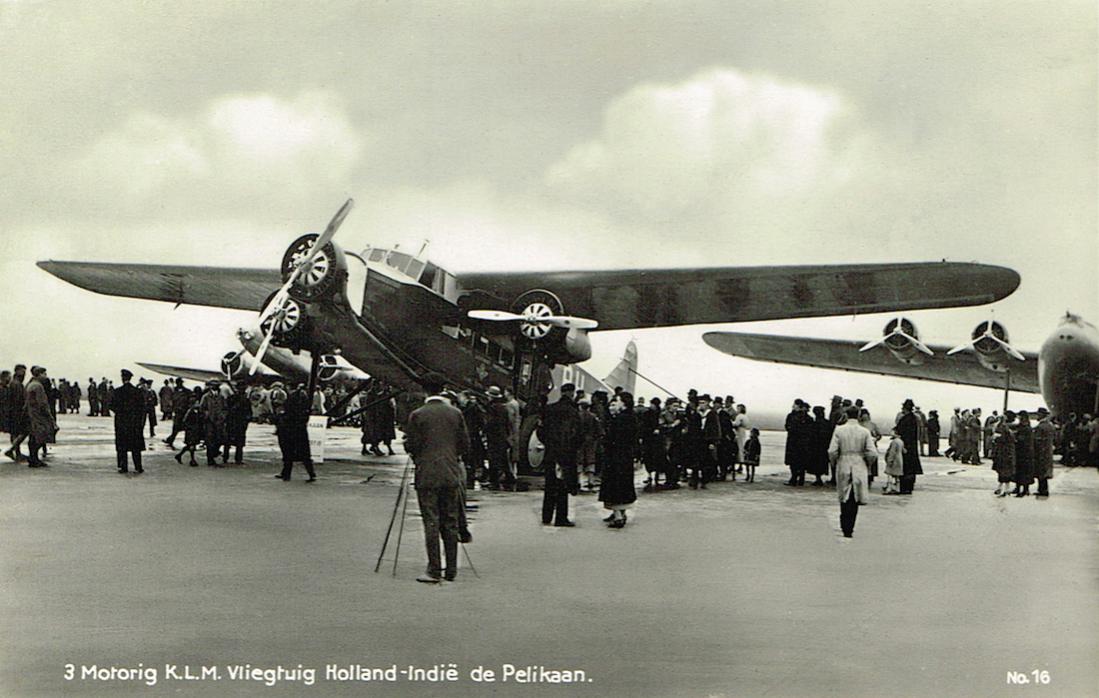 Naam: Kaart 691. PH-AIP 'Pelikaan'. Fokker F.XVIII, kopie 1100.jpg Bekeken: 420 Grootte: 96,4 KB