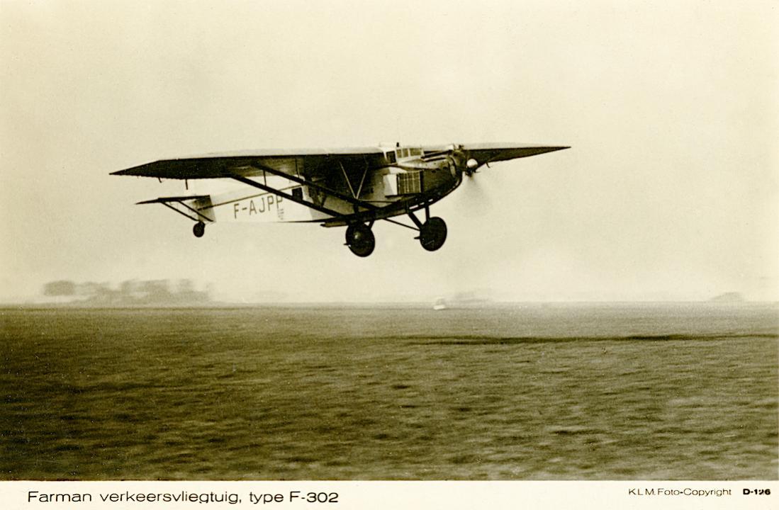 Naam: Kaart 796. Farman F-302 op Schiphol. 1100 breed.jpg Bekeken: 112 Grootte: 85,2 KB