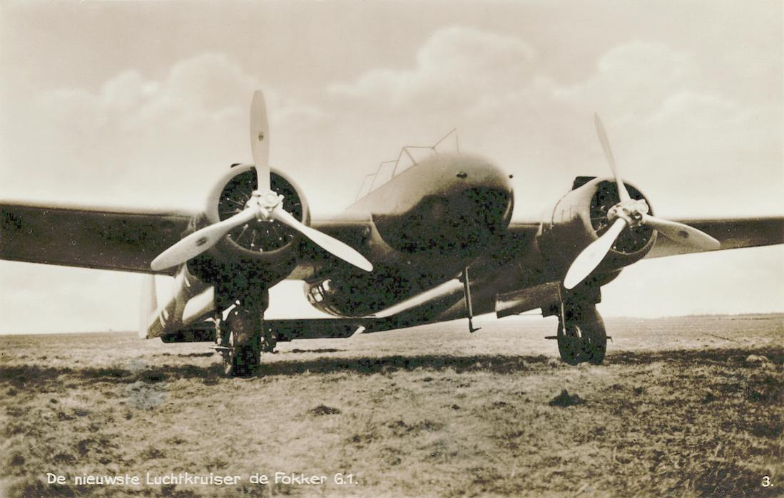 Naam: Kaart 834. De nieuwste Luchtkruiser de Fokker G.1. 1100 breed.jpg Bekeken: 146 Grootte: 96,7 KB
