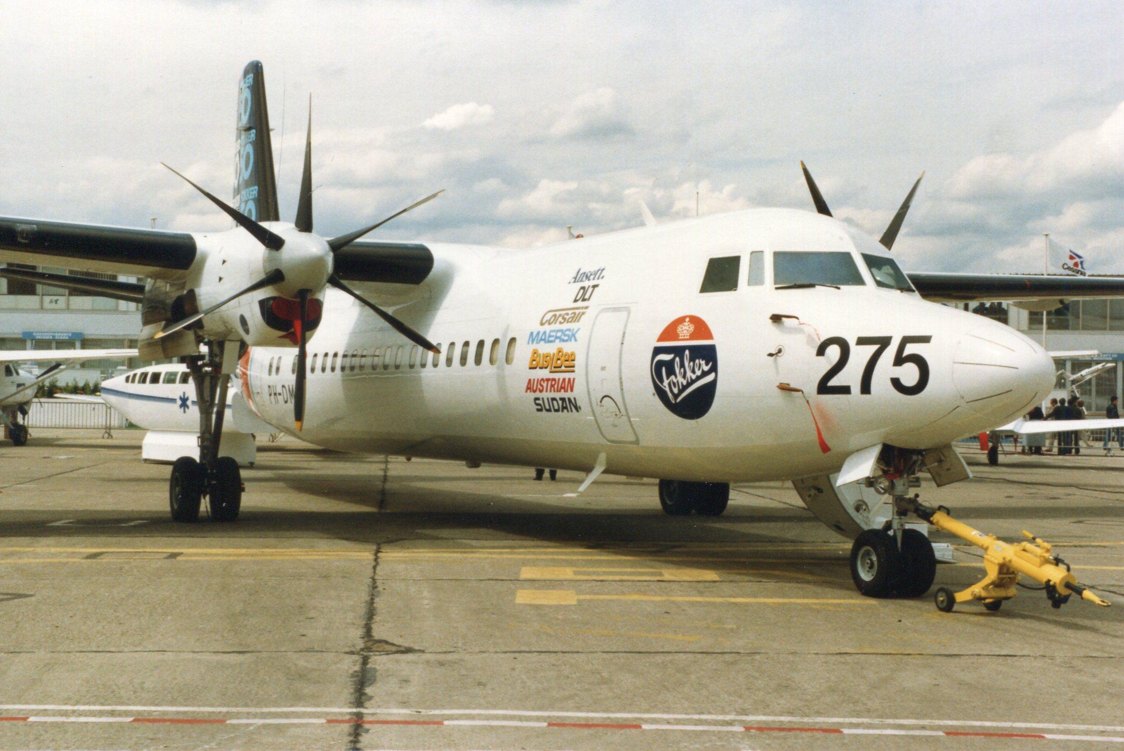 Naam: Fokker 50  juni 1987.jpg Bekeken: 109 Grootte: 476,4 KB