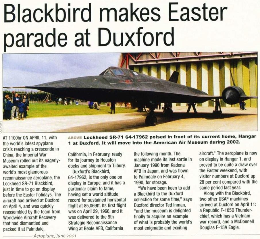 Naam: SR-71 64-17962 at Duxford (Aeroplane Monthly June 2001).jpg Bekeken: 16 Grootte: 320,8 KB