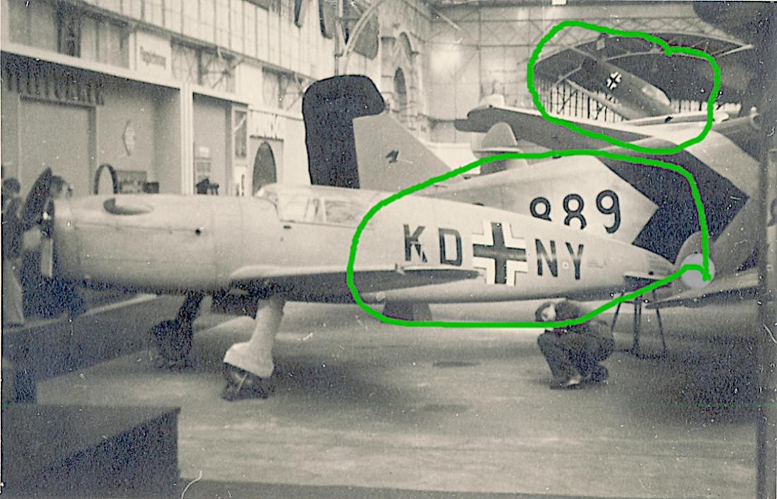 Naam: Foto 501. KD+NY (eerst D-EAEN). Fieseler Fi 158. Versie SV1. Werknr. 101. kopie.jpg Bekeken: 304 Grootte: 122,7 KB