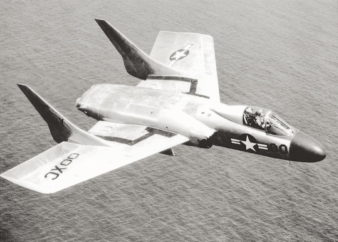 Naam: Foto 645. Chance Vought F7U-3 Cutlass in 1953.jpg Bekeken: 123 Grootte: 126,0 KB