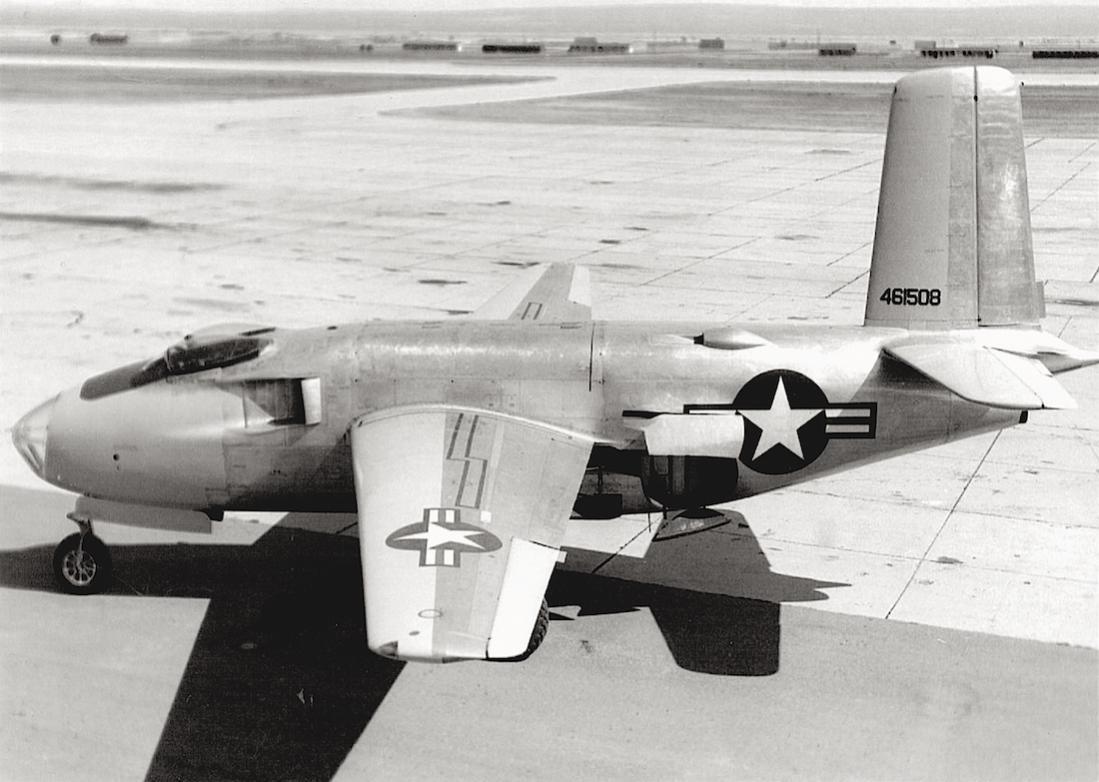 Naam: Foto 706. Douglas XB-43. 1100 breed.jpg Bekeken: 366 Grootte: 97,4 KB
