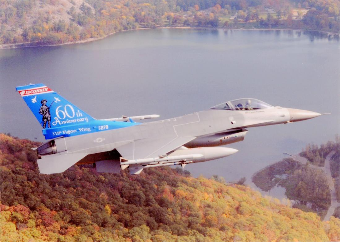 Naam: Foto 752. F-16C Fighting Falcon, 115th Fighter Wing, 176th Fighter Squadron Wisconsin Air Nation.jpg Bekeken: 232 Grootte: 101,4 KB