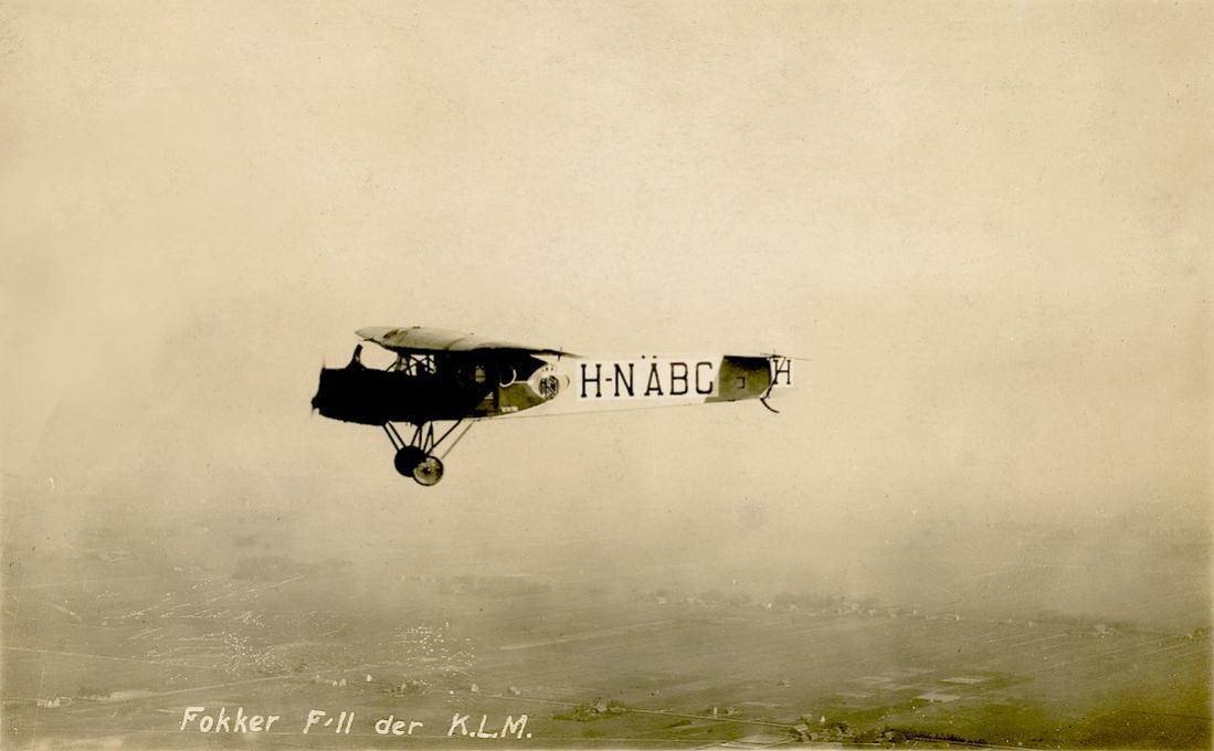 Naam: Kaart 812. H-NABC. Fokker F.II. 1100 breed.jpg Bekeken: 166 Grootte: 58,0 KB