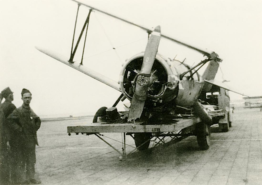 Naam: Foto 112. %2211%22. Koolhoven FK.51. Crash Kuiter, Stb 1938. 1100 breed.jpg Bekeken: 226 Grootte: 101,2 KB