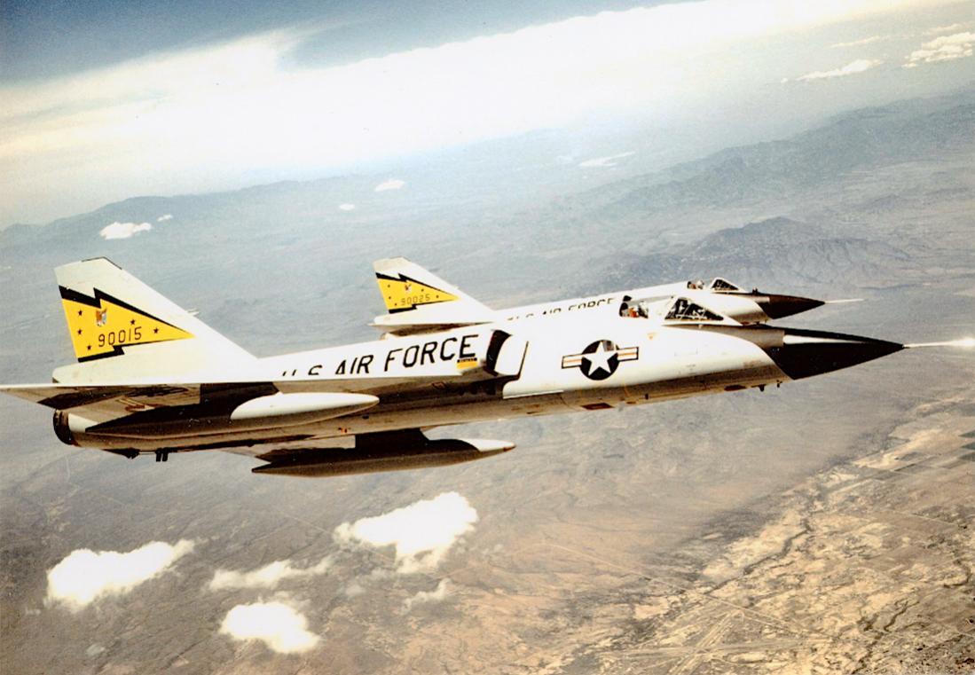 Naam: Foto 675. Convair F-106A-105-CO Delta Dart. 1100 breed.jpg Bekeken: 104 Grootte: 102,3 KB