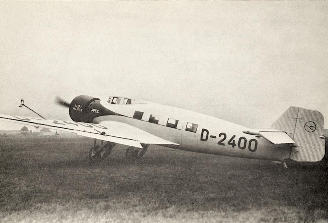 Naam: Foto 462. D-2400 'Pfeil'. Junkers Ju 60ba 1100 breed.jpg Bekeken: 109 Grootte: 102,7 KB