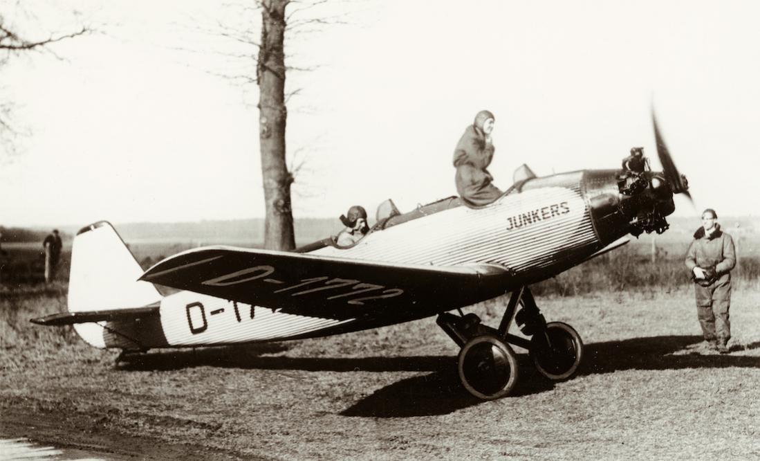 Naam: Foto 464. 'D-1772'. Junkers A 50 Junior. 1100 breed.jpg Bekeken: 51 Grootte: 87,7 KB