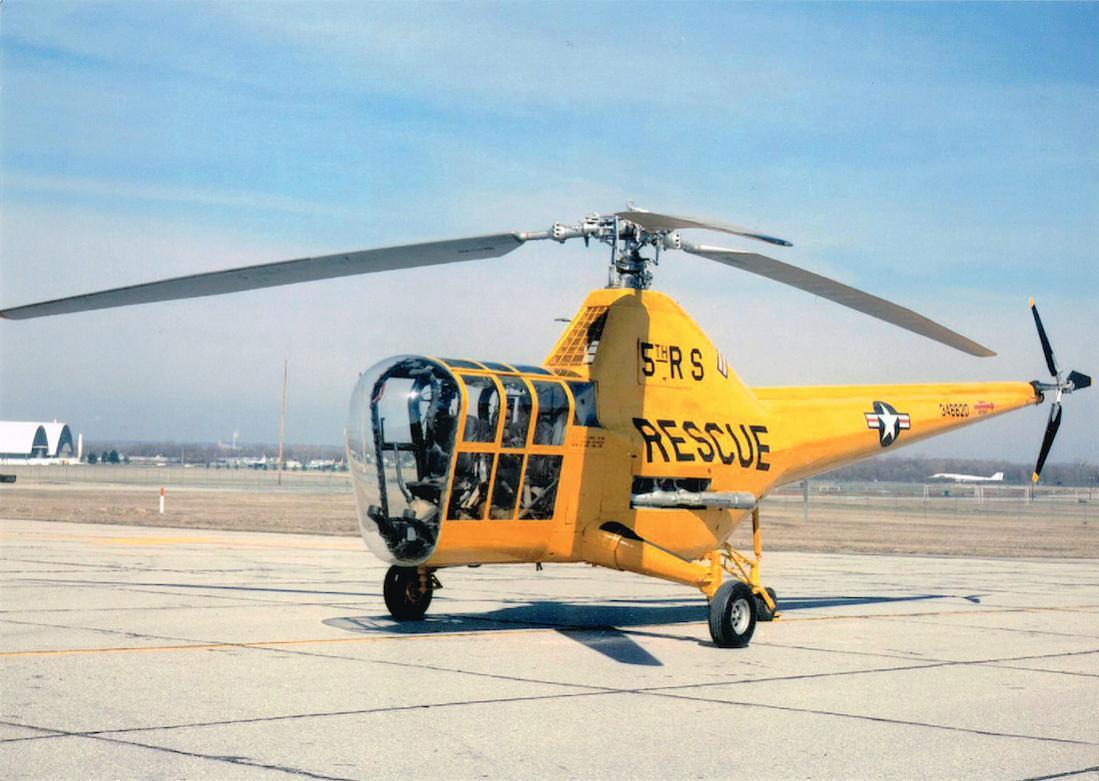 Naam: Foto 644. 346620. Sikorsky YR-5A in het National Museum of the USAF in Dayton, Ohio.jpg Bekeken: 79 Grootte: 99,1 KB