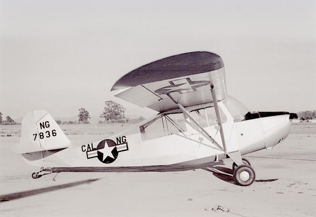 Naam: Foto 781. 47-836. Aeronca L-16A Grasshopper van de California Air National Guard. 1100 breed.jpg Bekeken: 145 Grootte: 64,9 KB