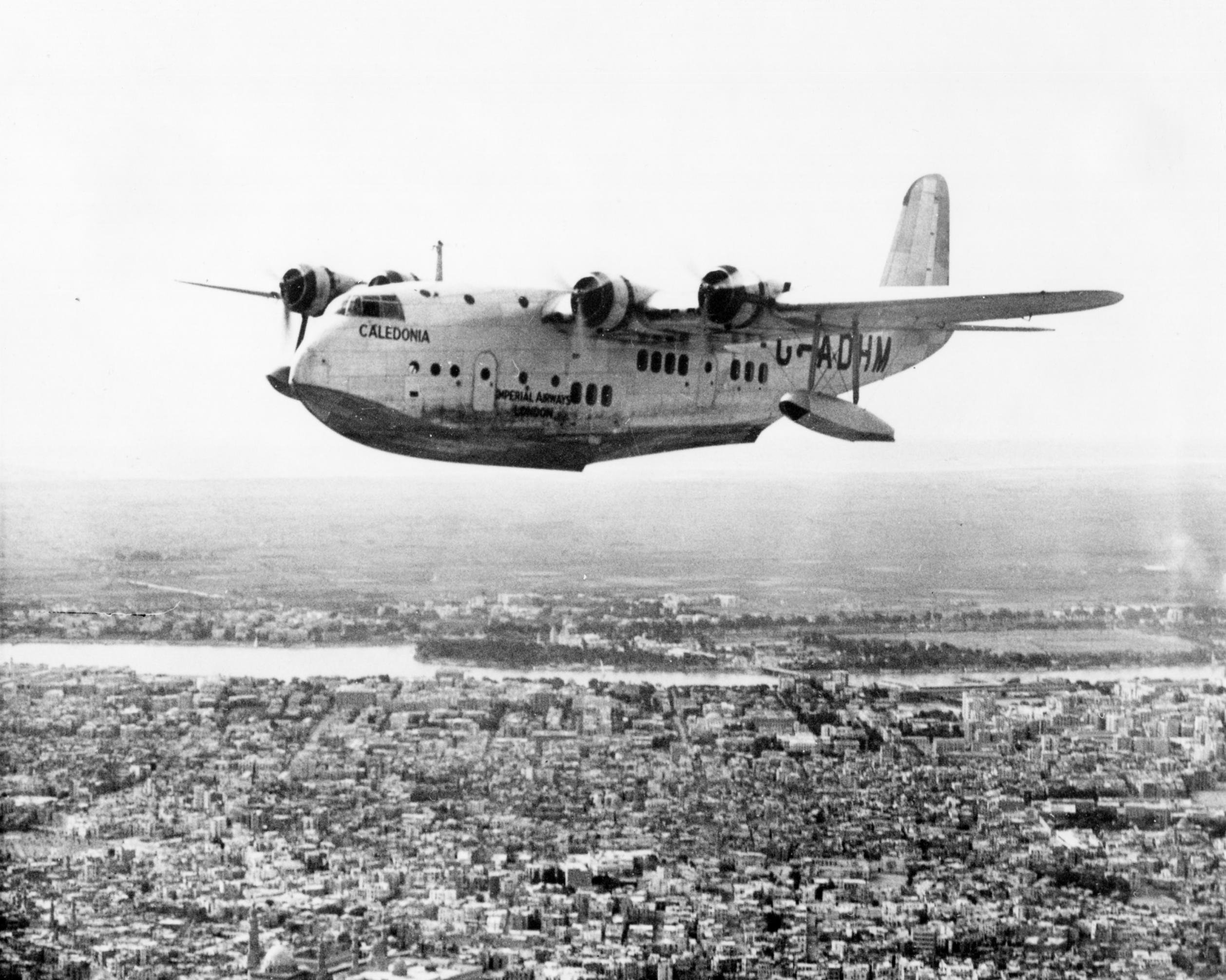 Naam: Short S.23 Empire G-ADHM 1936.jpg Bekeken: 208 Grootte: 507,1 KB