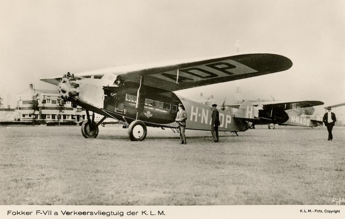 Naam: Kaart 816. H-NADP en H-NADQ. Fokker F.VIIa. 1100 breed.jpg Bekeken: 205 Grootte: 87,5 KB