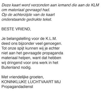 Naam: Gedrukte achterzijde KLM.jpg Bekeken: 156 Grootte: 59,5 KB