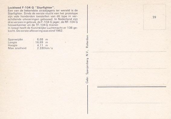 Naam: F-104G achterzijde kaart  #29.jpg Bekeken: 234 Grootte: 49,7 KB