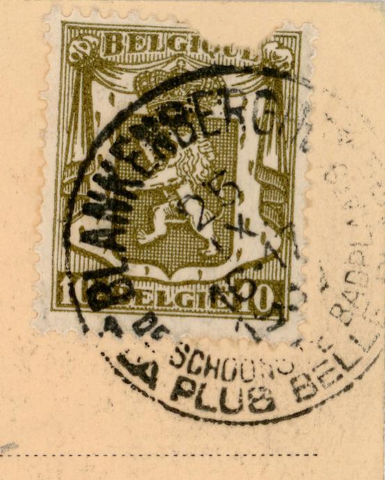 Naam: Kaart 828a. postzegel.jpg Bekeken: 90 Grootte: 65,6 KB