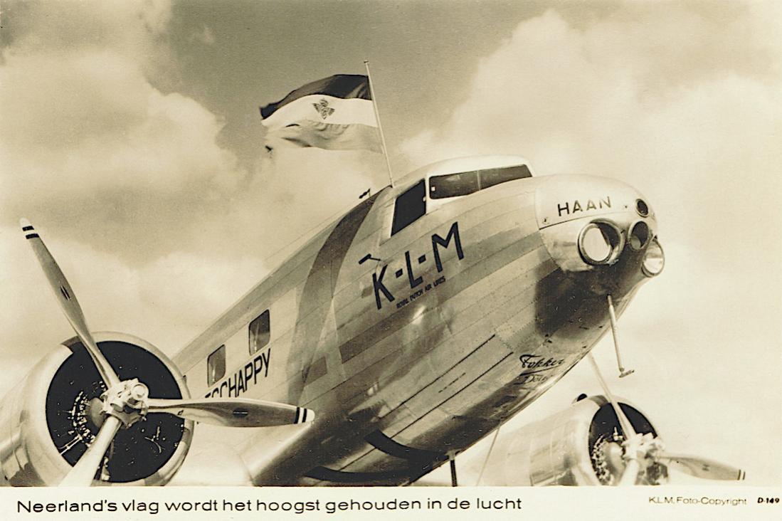 Naam: Kaart 741. PH-AKH 'Haan'. Douglas DC-2. 1100 breed.jpg Bekeken: 214 Grootte: 95,3 KB