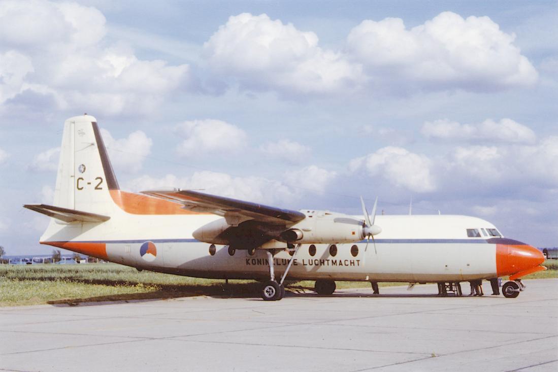 Naam: Foto 276. C-2. Fokker F-27 van de KLu. 1100 breed.jpg Bekeken: 293 Grootte: 65,2 KB