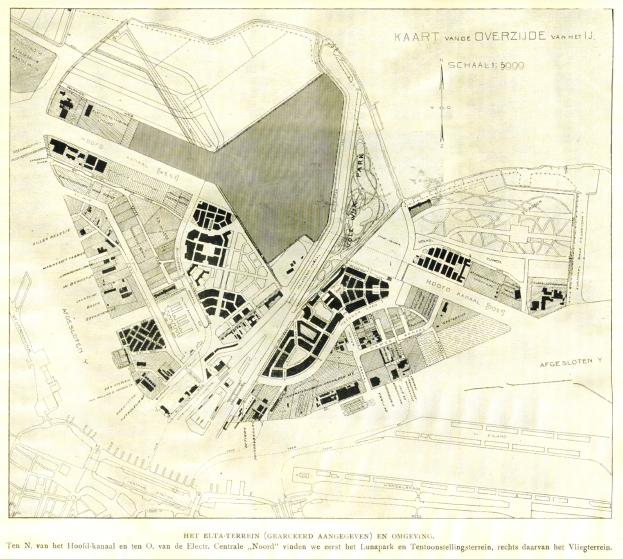 Naam: 1919-06 Het Vliegveld - 121 Tekening ELTA terrein.jpg Bekeken: 2661 Grootte: 388,7 KB