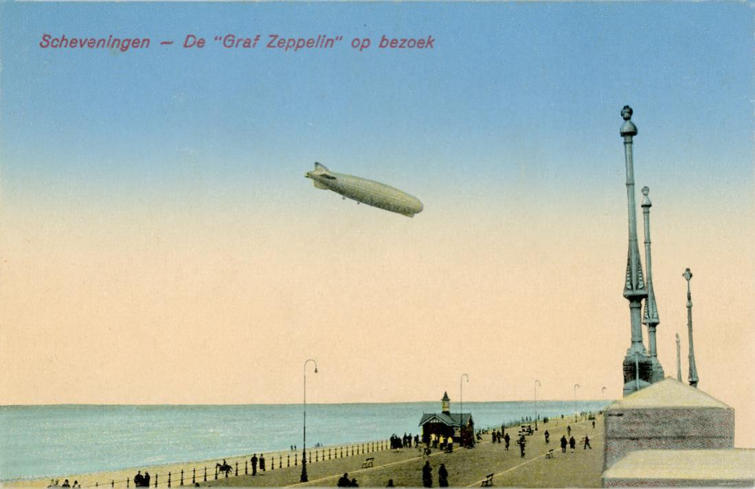 Naam: Kaart 773. Scheveningen - De %22Graf Zeppelin%22 op bezoek. 1100 breed.jpg Bekeken: 161 Grootte: 73,9 KB