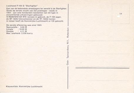 Naam: F-104G achterzijde  #14.jpg Bekeken: 256 Grootte: 37,6 KB
