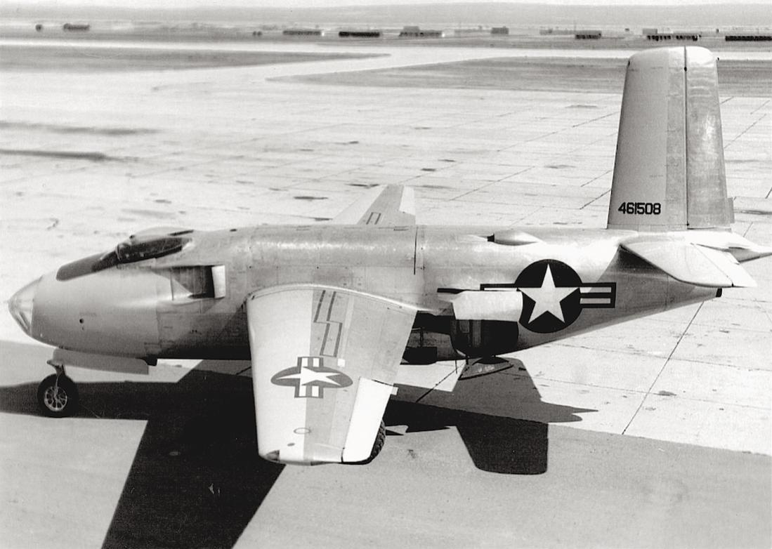 Naam: Foto 706. Douglas XB-43. 1100 breed.jpg Bekeken: 172 Grootte: 97,4 KB
