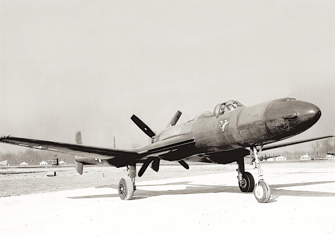 Naam: Foto 736. Vultee XP-54. 1100 breed.jpg Bekeken: 209 Grootte: 82,7 KB