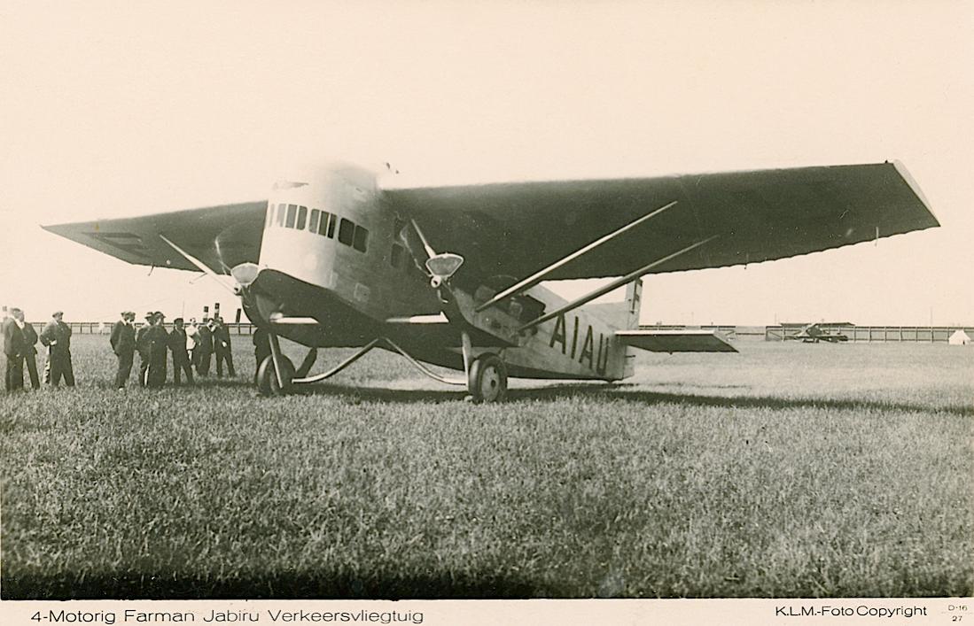 Naam: Kaart 750. F-AIAU. Farman F.121 Jabiru F.3X op Waalhaven. 1100 breed.jpg Bekeken: 120 Grootte: 115,2 KB