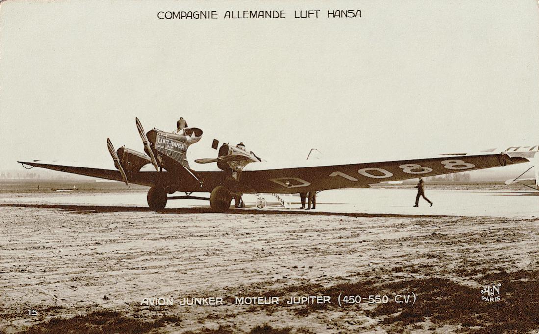 Naam: Foto 424. D-1088. Junkers G 24, later G 24ge. Naam toestel 'Cupido'. 1100 breed.jpg Bekeken: 393 Grootte: 141,5 KB