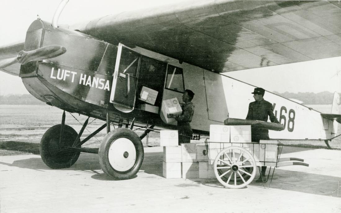 Naam: Foto 455. D-468. Fokker-Grulich F.III. 1100 breed.jpg Bekeken: 179 Grootte: 93,8 KB