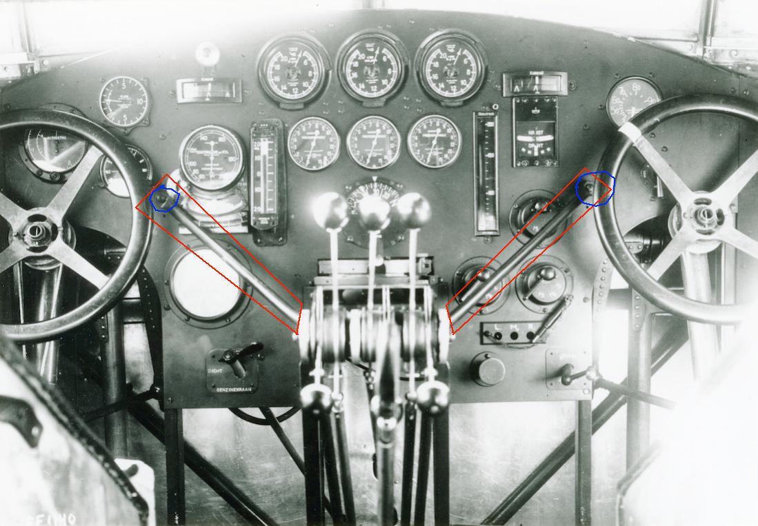 Naam: Cockpit Fokker F.IX. 1100 breed.jpg Bekeken: 305 Grootte: 145,4 KB