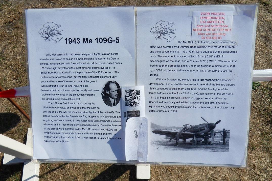 Naam: Bf109G5 op Seppe 1sep2019 (6).jpg Bekeken: 82 Grootte: 487,7 KB