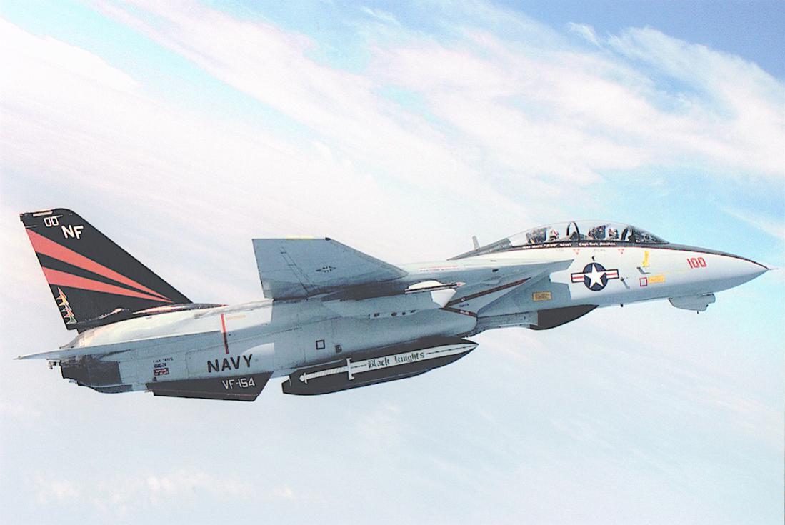 Naam: Foto 768. Grumman Tomcat van VF 154 'Black Knights'. 1100 breed.jpg Bekeken: 102 Grootte: 67,2 KB