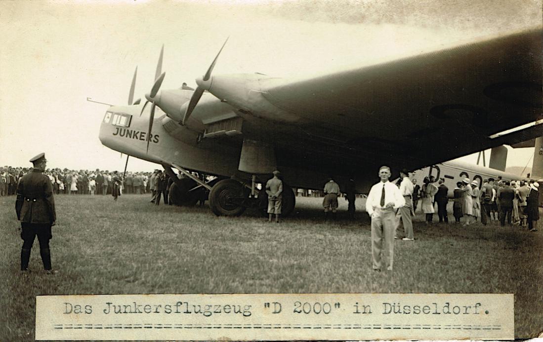 Naam: Foto 415. D-2000. Junkers G-38 te Duesseldorf kopie.jpg Bekeken: 186 Grootte: 107,2 KB