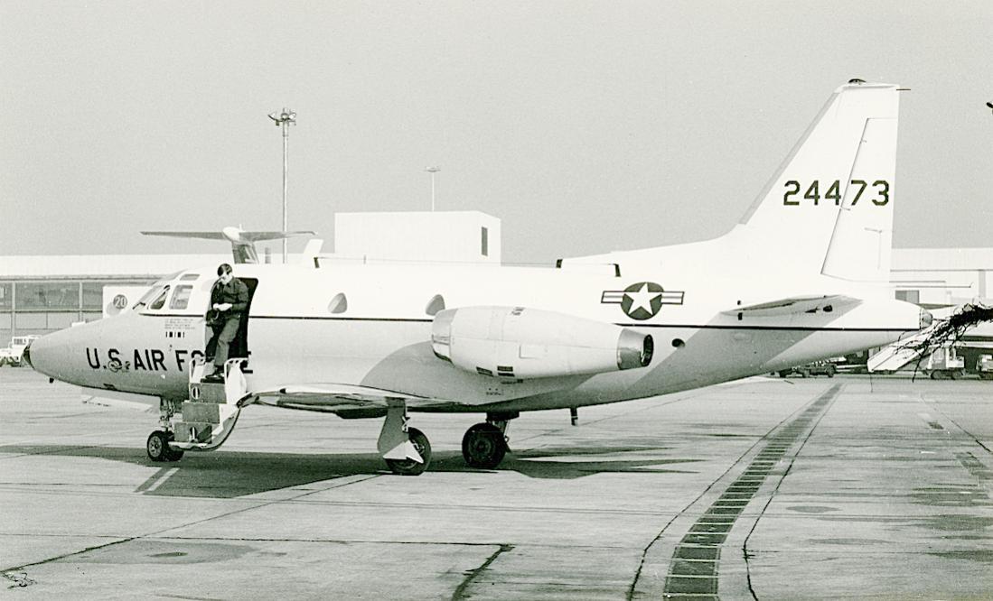 Naam: Foto 802. 24473 (= 62-4473). North American T-39A, converted to CT-39A) Sabreliner. 1100 breed.jpg Bekeken: 183 Grootte: 90,7 KB