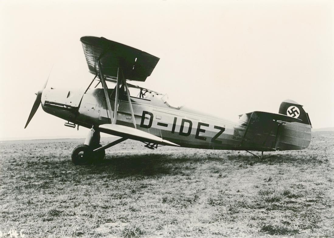 Naam: Foto 584. D-IDEZ. Arado Ar 66 C, c:n 416. 1100 breed.jpg Bekeken: 92 Grootte: 121,3 KB