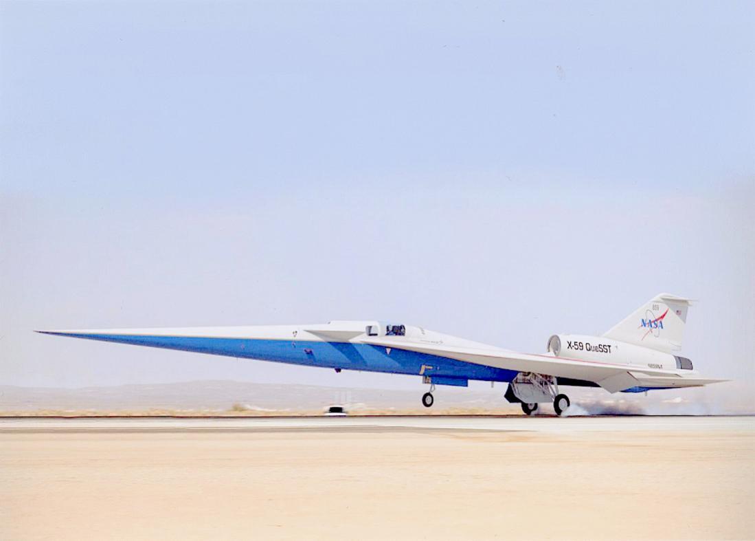 Naam: Foto 745. Lockheed Martin X-59. 1100 breed.jpg Bekeken: 109 Grootte: 42,5 KB