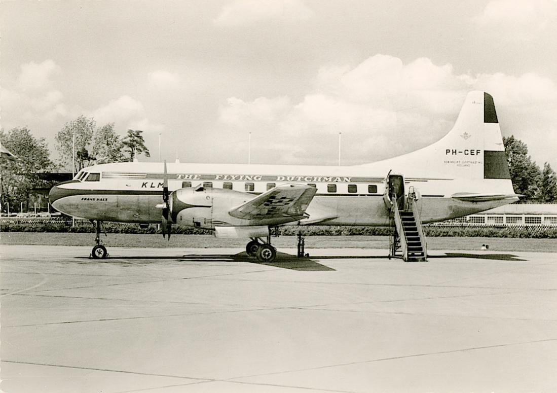 Naam: Kaart 743. PH-CEF (eerder PH-TEF) 'Frans Hals'. Convair Liner CV-240. 1100 breed.jpg Bekeken: 202 Grootte: 92,2 KB